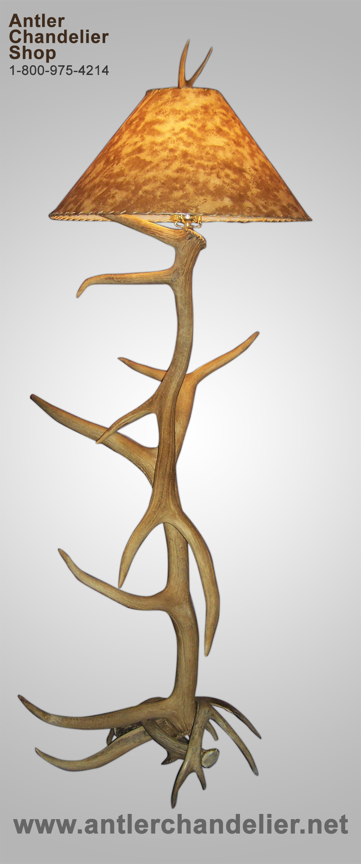 elk white tail deer antler floor lamp rustic chandelier. Black Bedroom Furniture Sets. Home Design Ideas