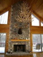 Real Antler Mule Deer Triple-Tier Chandelier MD3TR-7