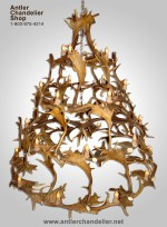 Real Antler Fallow Deer Multi-Tier Chandelier FMLTR