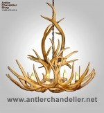 Mule Deer & Elk Real Antler Chandelier MDELK