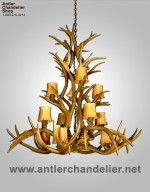Real Antler Mule Deer Colorado Chandelier MDINVTCASC