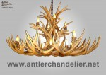 Real Antler XL Mule Deer Single-Tier Chandelier MDXL