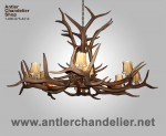 Reproduction Elk Antler Chandelier CRL-12