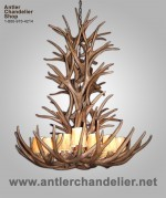 Reproduction Majestic Mule Deer Chandelier CRL-17