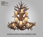 Reproduction Rustic Mule Deer Chandelier CRL-18
