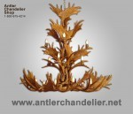 Reproduction Fallow / Mule Deer Triple-Tier Chandelier CRL-20