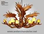 Reproduction Elk / Fallow Monarch Chandelier CRL-21