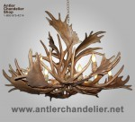 Reproduction Fallow / Mule Deer Chandelier CRL-22