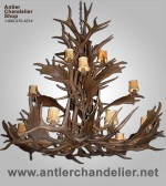 Reproduction Elk / Fallow Grand Chandelier CRL-23