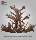 Reproduction Fallow / Elk / Mule Deer Chandelier CRL-25