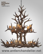 Reproduction Elk Double-Tier Chandelier CRL-29