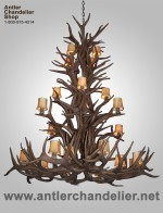 Reproduction Elk / Mule Deer Cascade Chandelier CRL-30