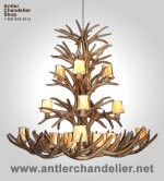 Reproduction Apache White-tail / Mule Deer Chandelier CRL-8XXL