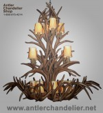 Reproduction Grand White-tail / Mule Deer Chandelier CRL-9485