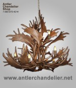 Reproduction Fallow / Mule Deer Cluster Chandelier CRL-FMDCLUSTER