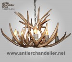 Reproduction Mule Deer Bowl Shape Antler Chandelier CRS-12