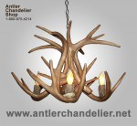 Reproduction White-Tail Antler Chandelier CRS-17