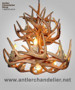 Reproduction Whitetail Two Tier Chandelier CRS-19