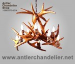 Reproduction 10 Light White-Tail Antler Chandelier CRS-3