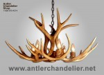 Reproduction Mule Deer Antler Chandelier CRS-5