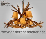 Reproduction Mule Deer Inverted Chandelier CRS-6