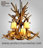 Reproduction Mule Deer Cascade Inverted Chandelier CRS-7