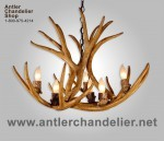 Reproduction Mule Deer Chandelier CRS-8