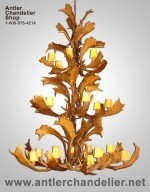 Real Antler Triple-Tier Fallow Chandelier FALLOW3TR