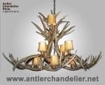 Real Antler Mule Deer Dining/Pool Table Oval Chandelier MDINVOB-6
