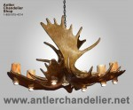 Real Antler Moose Pool Table Chandelier MOOSEPL-8