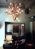 Real Antler Two-Tier Elk Chandelier