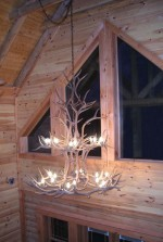 Reproduction Elk Double-Tier Chandelier