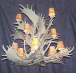Reproduction Fallow / Mule Deer Cluster Chandelier