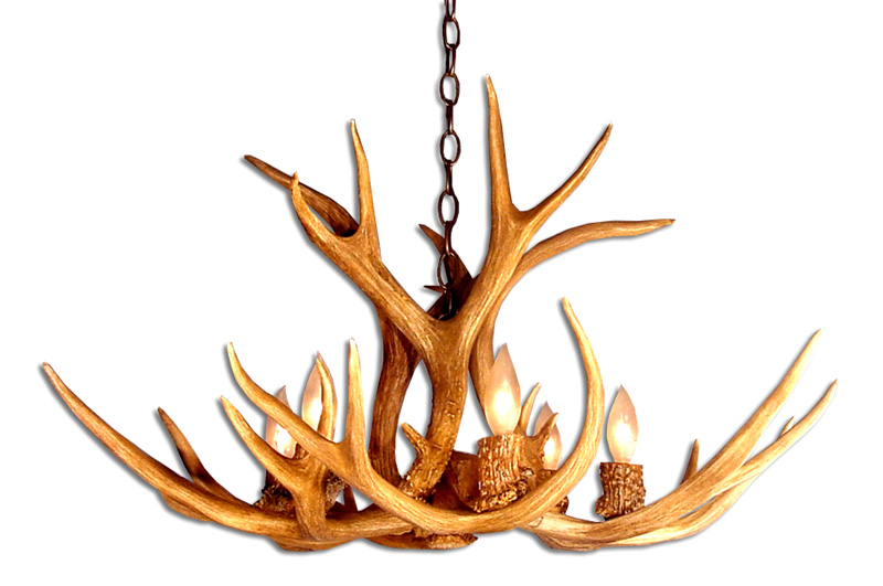 Antler Chandeliers: Chandeliers Made From Real and Faux Antlers