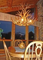 Reproduction Mule Deer Chandelier CRL-4