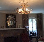 Real Antler White-tail Chandelier WTR-1
