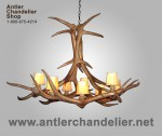 Reproduction Elk Crown Chandelier CRL-16