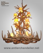 Reproduction White-Tail Tall Spruce Chandelier CRL-31