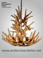 Reproduction 9 light Mule Deer Cascade Chandelier CRS-18