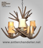 Reproduction White-tail / Mule Deer Chandelier CRS-9