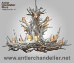 Real Antler Elk / Mule Deer Cascade Chandelier ELKMD-9550