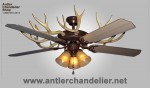 Real Antler White-tail / Mule Deer Celing Fan