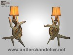 Real Antler One Light White-Tail Sconce