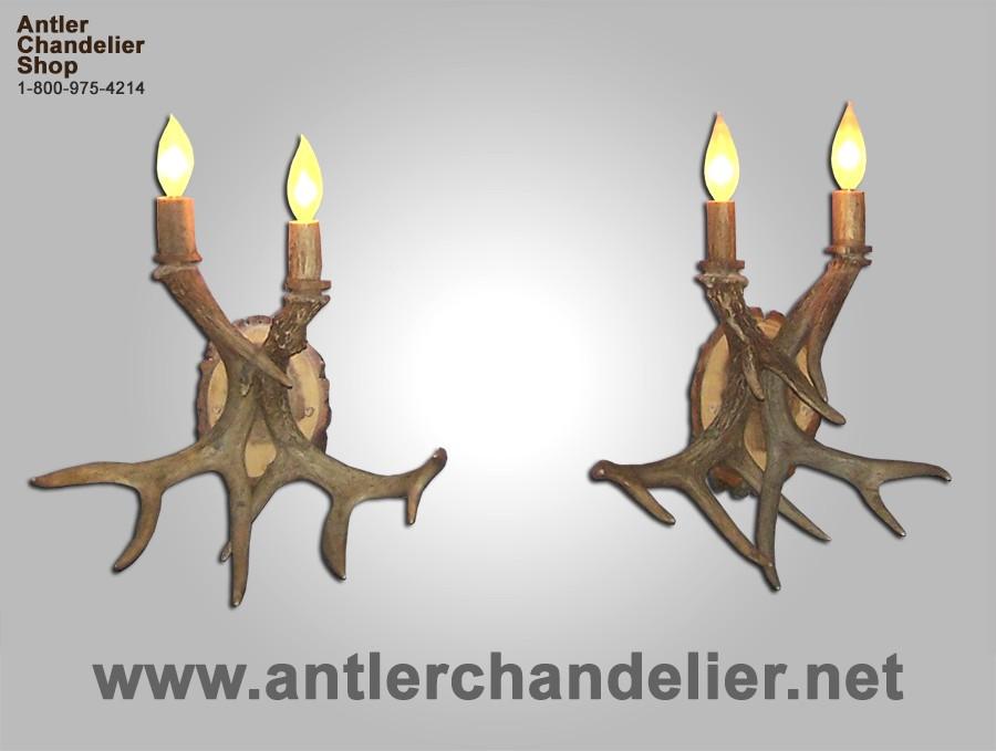 White Antler Wall Lights : Antler Sconces Antler Chandelier