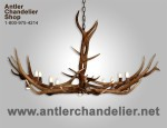 Real Antler Elk Oblong Pool Table Chandelier