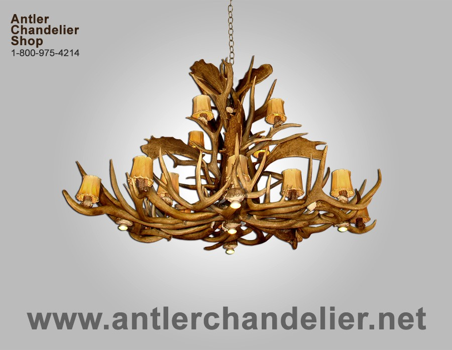 Pool Table Antler Chandeliers – Real Deer Antler Chandelier