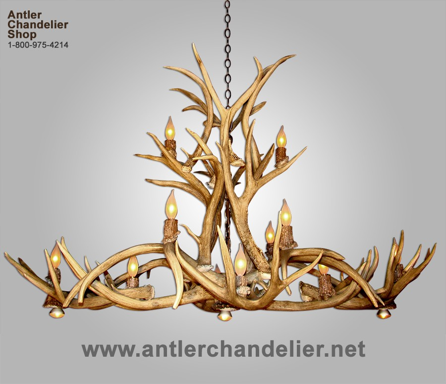 Pool Table Antler Chandeliers