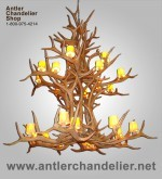 Real Antler Elk 2-tier Chandelier Elk2Tier