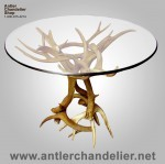 Real Antler Mule Deer / Whitetail End Table