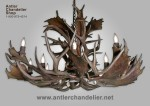 Real Antler Fallow & Mule Deer Single-Tier Chandelier FMSNGLTR